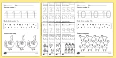 Farm Identifying Numbers Activity Sheets