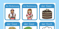 Restaurant Role Play Badges German