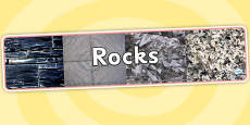 Rocks Photo Display Banner