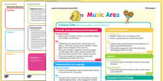 Music Area Continuous Provision Plan Posters Reception FS2