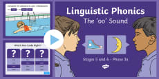 Northern Ireland Linguistic Phonics Stage 5 and 6 Phase 3a, 'oo' Sound PowerPoint