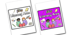 Literacy Area Sign