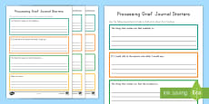 Processing Grief Journal Writing Activity Sheet