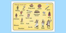 Viking Word Mat