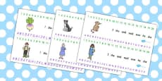 The Enormous Turnip Combined Number and Alphabet Strips