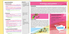 PlanIt - Science Year 3 - Scientists and Inventors Planning Overview