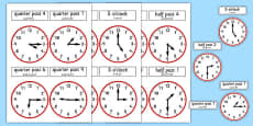Analogue Clocks Arabic Translation