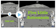 Five Little Astronauts Counting Song PowerPoint