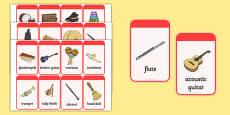 Musical Instrument Flashcards