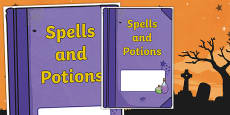 Halloween: Spells and Potions Editable Book Cover
