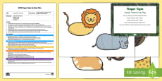 EYFS Jungle Animals Finger Gym Plan and Resource Pack