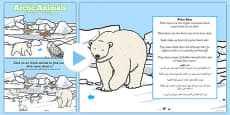 Winter Arctic Animals Habitat PowerPoint Arabic Translation