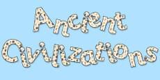 'Ancient Civilizations' Display Lettering