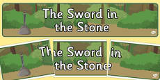 The Sword in the Stone Display Banner