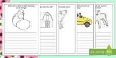 Spring Animal-Themed Prompt Questions Creative Writing Frames