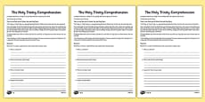 The Holy Trinity Differentiated Reading Comprehension Activity
