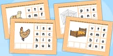CVC Words E Spelling Flipchart