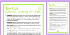 Top Ten Tips for Parents' Evening for NQTs