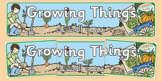 Growing Things Banner Arabic Translation