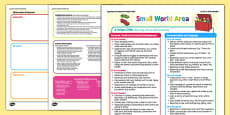 Small World Area Continuous Provision Plan Posters 16-26 to 40-60 Months