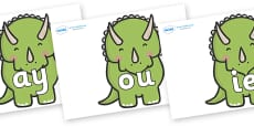 Phase 5 Phonemes on Triceratops Dinosaurs