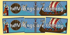 The Vikings are Coming Display Banner