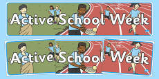 Active School Week Display Banner
