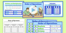 Order of Operations BODMAS BIDMAS Teaching Pack
