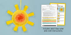 EYFS Paper Plate Sun Craft Adult Input Plan and Resource Pack