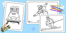 Winter Olympics Colouring Pages