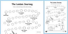 The Lenten Journey Colouring Page