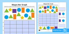 Bar Graphs with Shapes Differentiated Go Respond Activity Sheets
