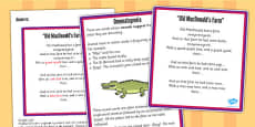 Figurative Language Activity and Reference Sheet Onomatopoeia