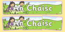 An Cháisc Easter Display Banner Irish Gaeilge