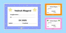 End of term Award Certificates Welsh