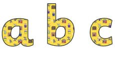 The Three Little Pigs Lowercase Display Lettering