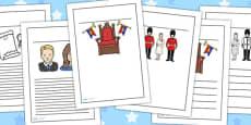 Australia - Royal Family Writing Frames Standard Lined