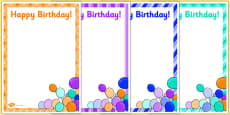 6th Birthday Party Editable Poster
