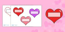 Valentine's Day Editable Self Registration Hearts