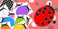 Editable Ladybug and Spots Cut Outs
