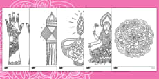 Diwali Themed Mindfulness Colouring Sheets