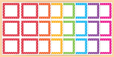 Multicoloured Polka Dot Square Peg Labels