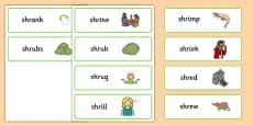 SHR Word Cards