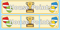 House Points Display Banner