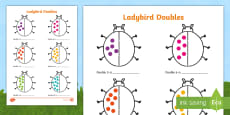 Ladybird Doubles to 20 Activity Sheet