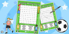 Football World Cup Wordsearch (Differentiated)