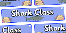 Shark Themed Classroom Display Banner