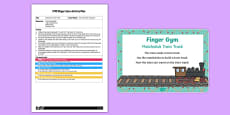 EYFS Matchstick Train Track Finger Gym Plan and Prompt Card Pack
