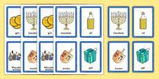 Hanukkah Pairs Matching Game