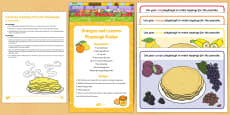 Coloured Toppings Pancake Playdough Busy Bag Resource Pack for Parents